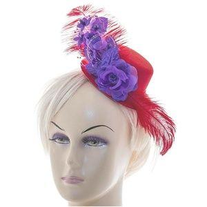 Linda Ann Accessories - Linda Ann's Ladies Purple Flower mini top Hat clip